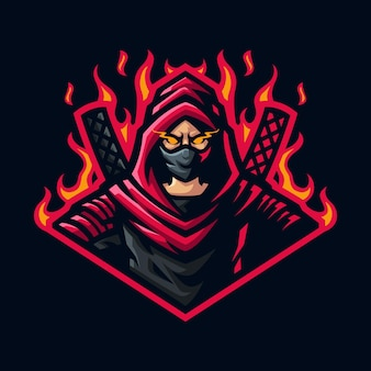 Assasin mascot logo for gaming twitch streamer gaming esports youtube facebook