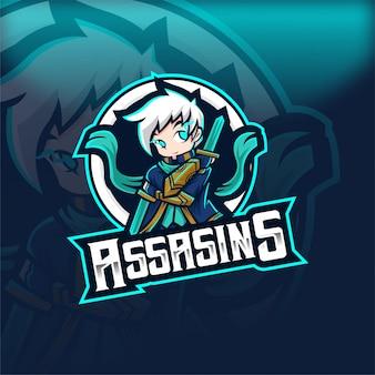Assasins magic human esport талисман логотип