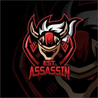 Assassi 마스코트 로고 esport 로고 팀 스톡 이미지