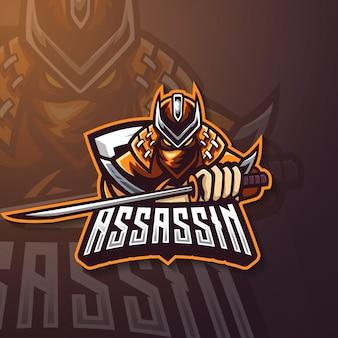 Assassin esport игровой логотип