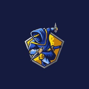 Assassin ninja esport logo gaming