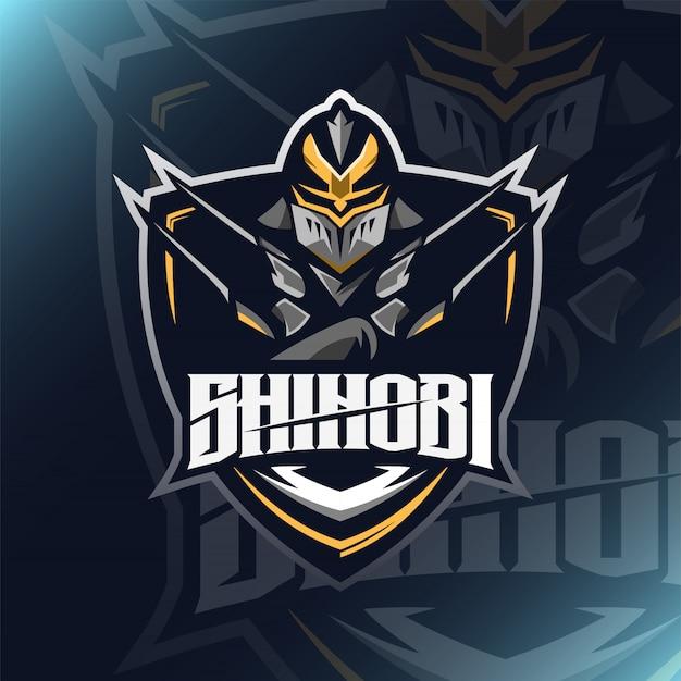 Assassin shinobi иллюстрация спорт и логотип киберспорта