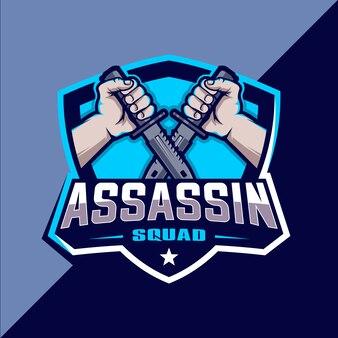 Assassin отряд киберспорт дизайн логотипа