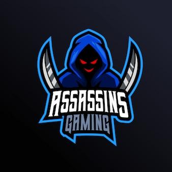 Assassins gaming mascot logo