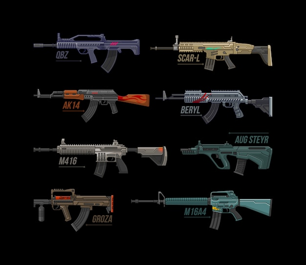 Assault riffle collection