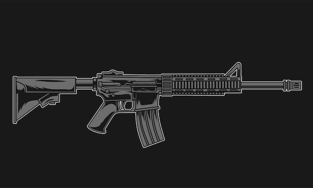 Штурмовая винтовка иллюстрация