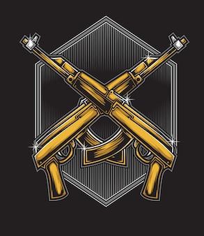 Assault rifle vector