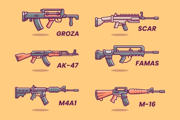돌격 소총 무기 컬렉션