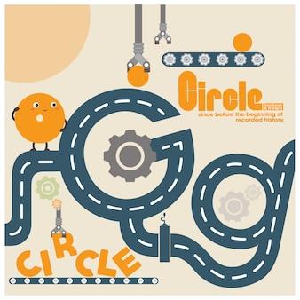 Assembled circle