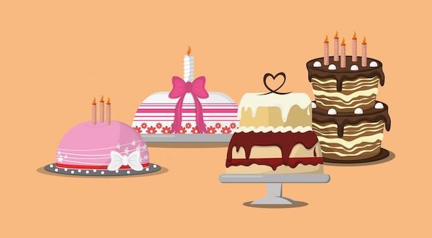 모듬 장식 된 케이크 이미지