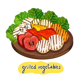 Assorted delicious grilled vegetable