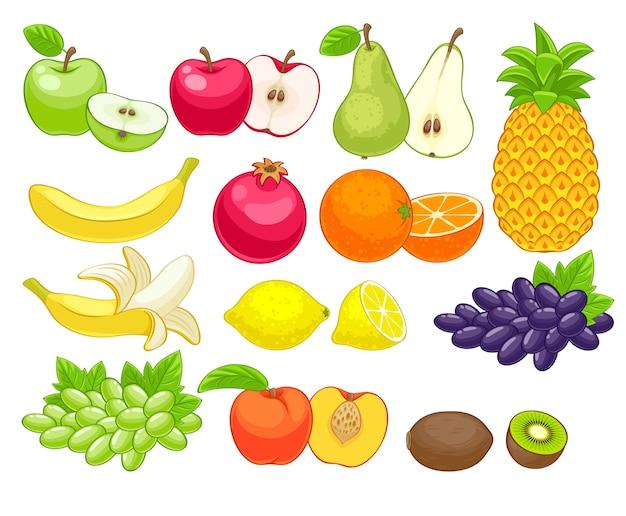 Ассорти из фруктов набор иллюстрации.