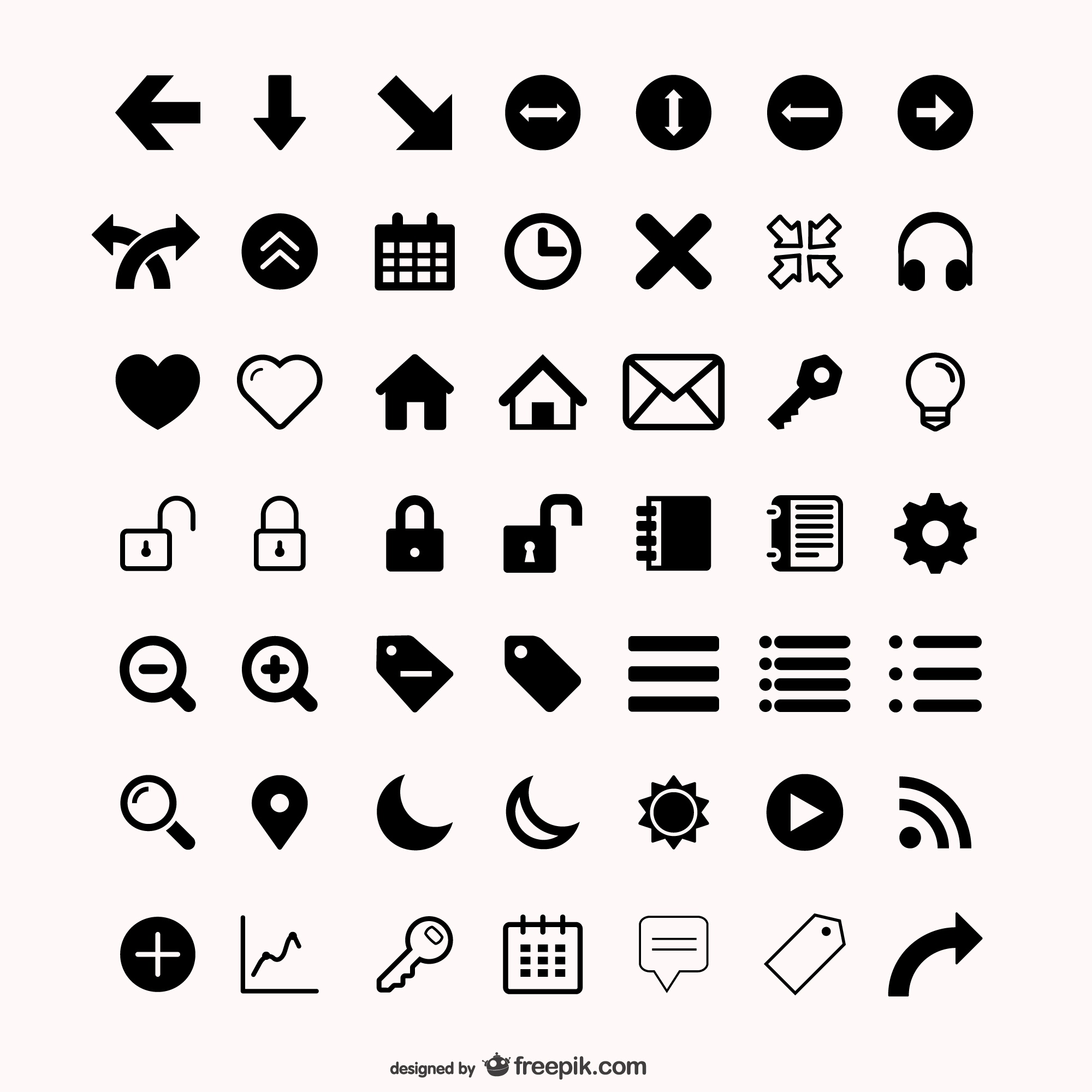 Assorted icons set