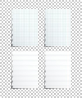Assorted paper sheets, realistic design elements.
