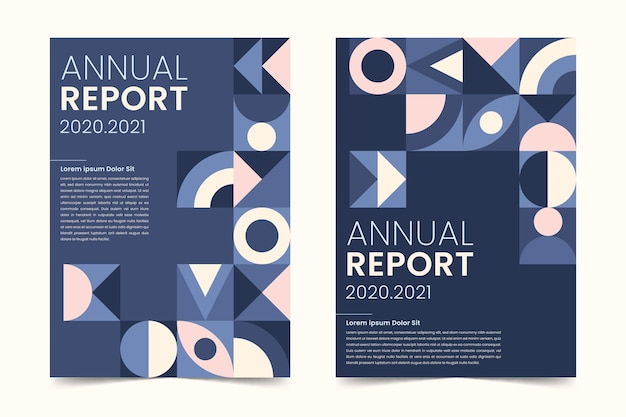 Assortment of abstract annual report templates