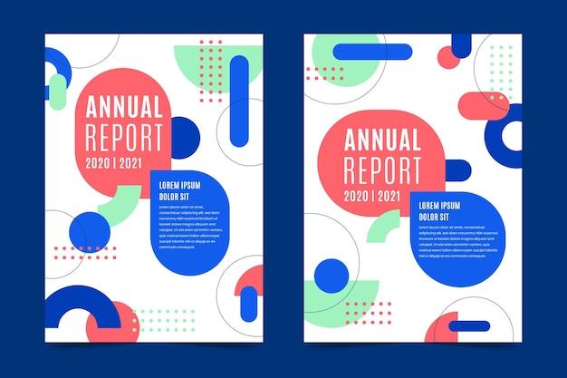 Assortimento di modelli di report annuali astratti