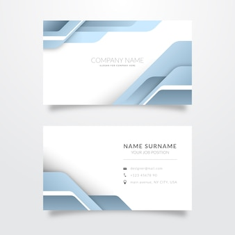 Assortment of abstract business cards