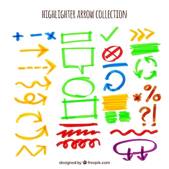 Assortment of arrows highlighter