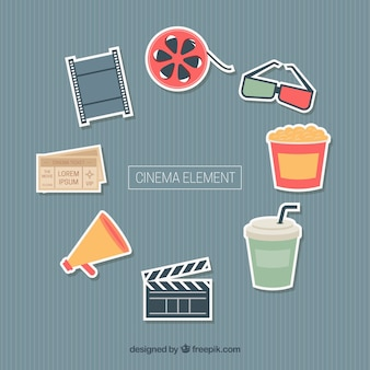 Assortment of cinema elements