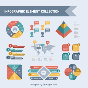 Assortment of colored infographic elements