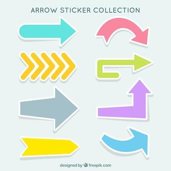 Assortimento di frecce decorativi adesivi con colori diversi
