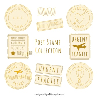 Assortment of decorative post stamps