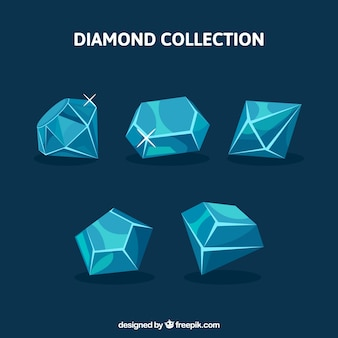 Assortment of diamonds with variety of designs