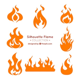 Assortment of flame silhouettes