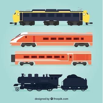 Assortment of flat trains