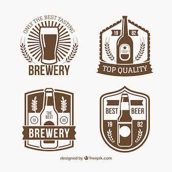 Assortment of four vintage beer stickers