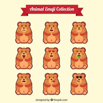 Assortment of hamster emojis