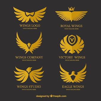 Assortment of logos with variety of wings