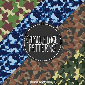 Assortment of military patterns