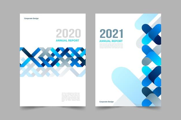 Набор абстрактных шаблонов годовых отчетов