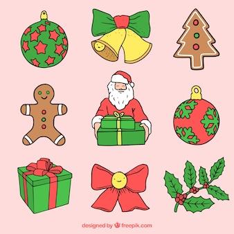 クッキーとクリスマスアイテムの品揃え