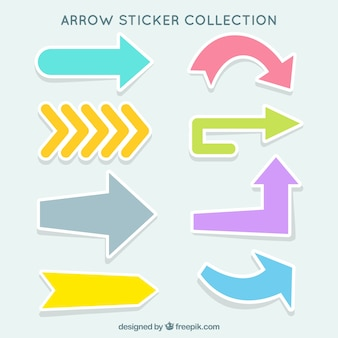 Assortment of decorative arrows stickers with different colors
