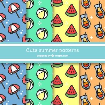 4 가지 귀여운 여름 패턴 구색