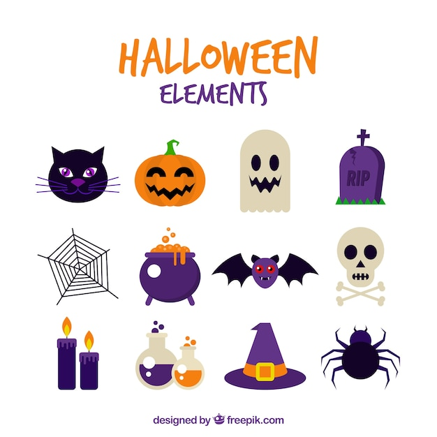 halloween vectors photos and psd files free download rh freepik com halloween silhouette vectors free Mummy Halloween Cartoon Vector Free