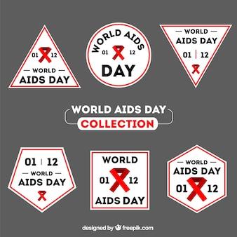 세계 에이즈 데이 스티커의 구색