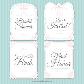 Assortment of ornamental bridal shower frames