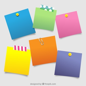 Assortment of post-it with different colors