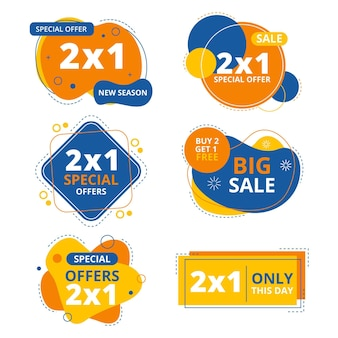 Assortment of promotion labels
