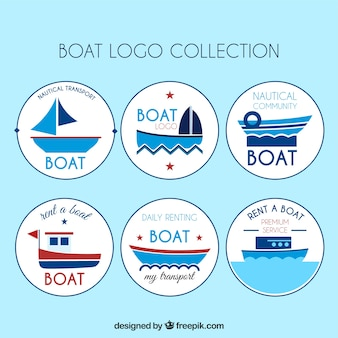Assortment of round boat logos