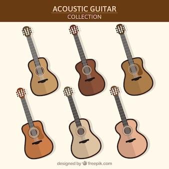 Assortment of six acoustic guitars
