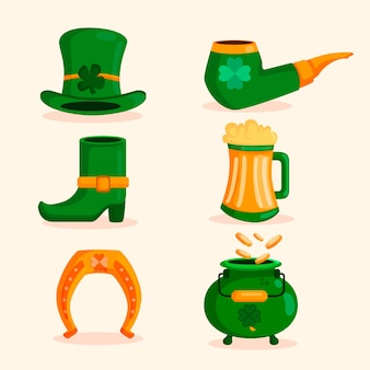 Assortment of st. patrick's day elements