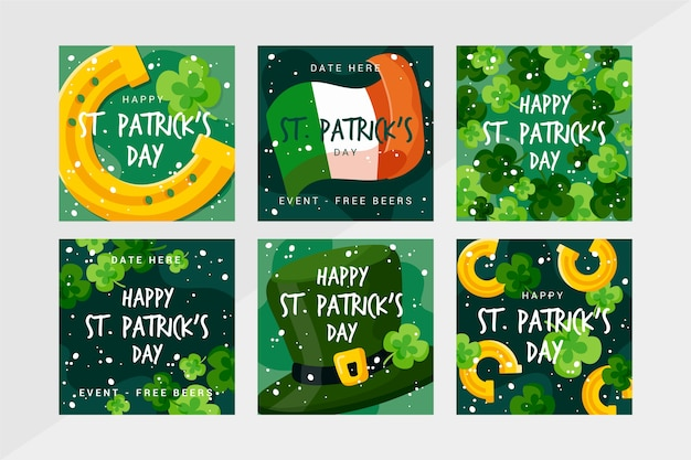 Assortment of st. patrick's day instagram posts