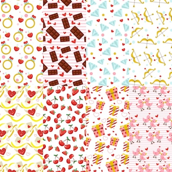 Assortment of valentines day patterns