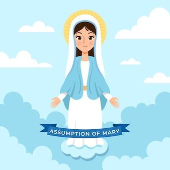 Assumption of mary illustration