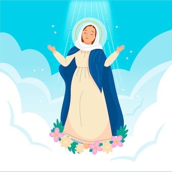 Illustrazione dell'assunzione di maria