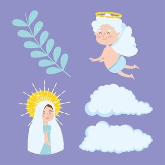 Assumption of mary symbols set